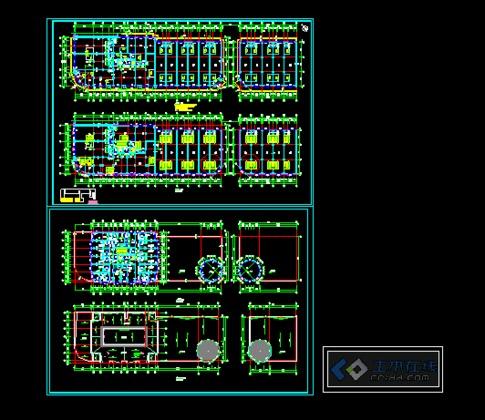 陕西某小区高层住宅建筑总体规划及户型图  点式公寓建筑平面图,多谢