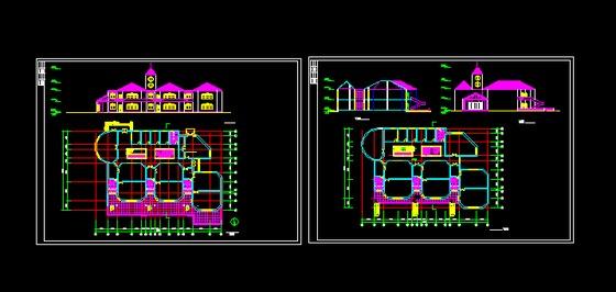幼儿园设计小幼儿园设计 相关分类:建筑图纸住宅cad图纸住宅平面图