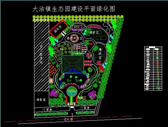 【景观平面图】园林景观工程规划设计平面图免费下载