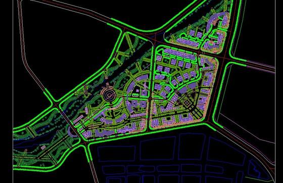 非常完整的某学校校园景观绿化设计施工图 某大学校园景观规划设计图片