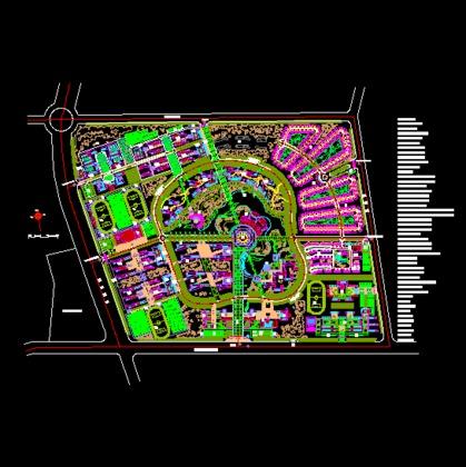 南方某大学校园总平面规划设计方案