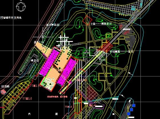 图公园cad平面图公园总平面图公园广场设计平面图