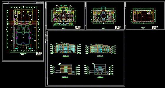 成套高层住宅建筑图 成套多层宿舍楼建筑图 住宅单体平面,立面,剖面图