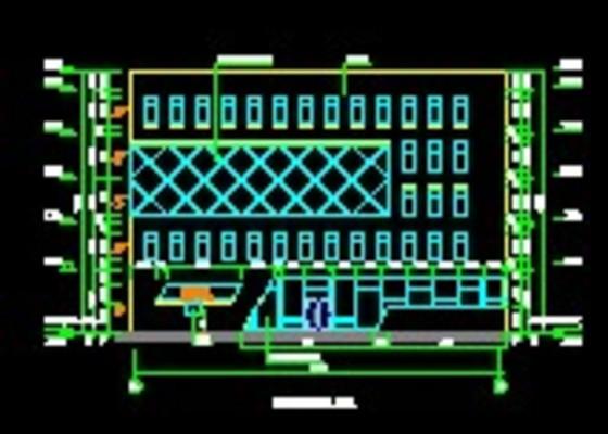 欧式办公楼建筑施工图