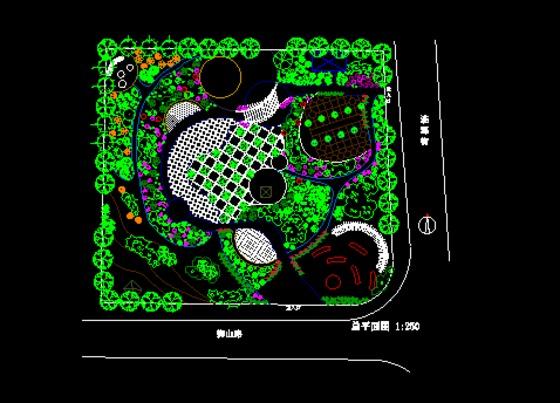游园设计手绘平面图游园cad平面图小区游园设计平
