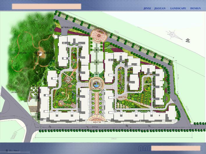 某住宅小区方案及效果图