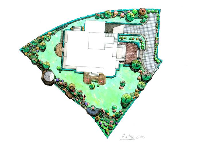展厅手绘平面图 公园手绘平面图 公园平面图手绘  所属分类:园林设计