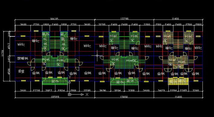 普通住宅标准平面图    本人画的普通单元式住宅标准平面图   相关