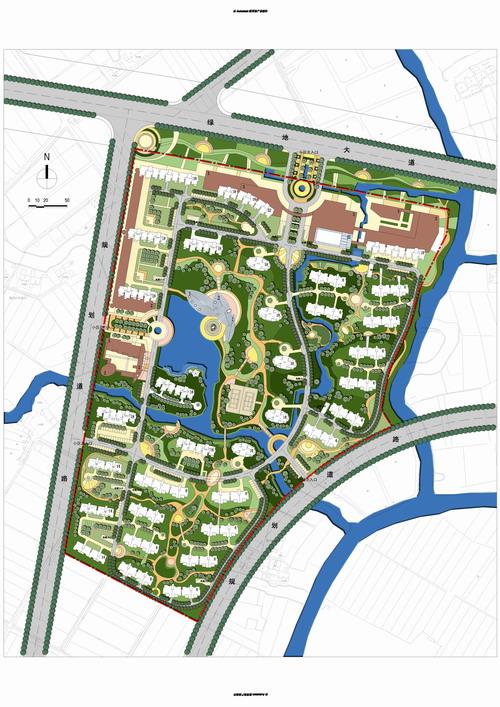 区居住区景观居住区设计居住区平面居住区景观施工