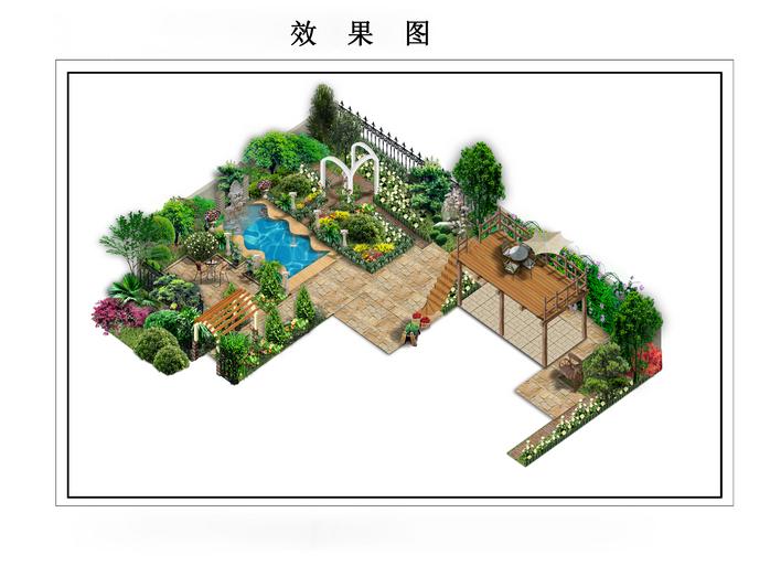 经典别墅花园设计图