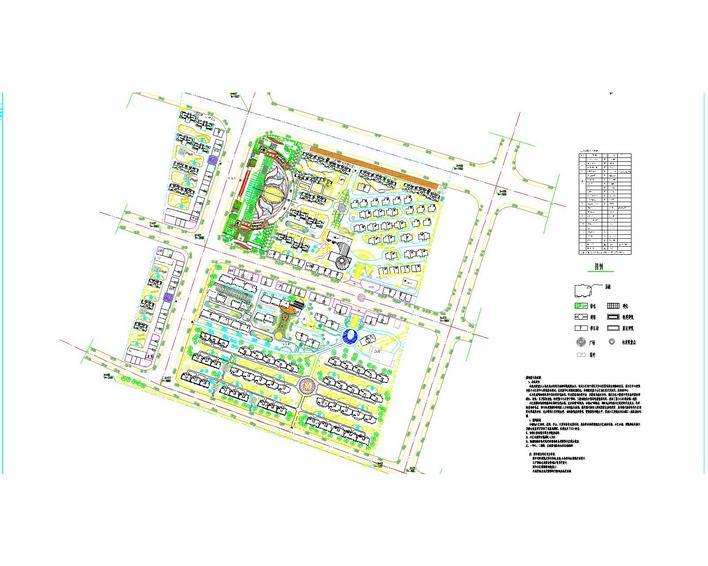 小区规划平面图cad  所属分类:园林设计图  建筑规划平面图相关下载