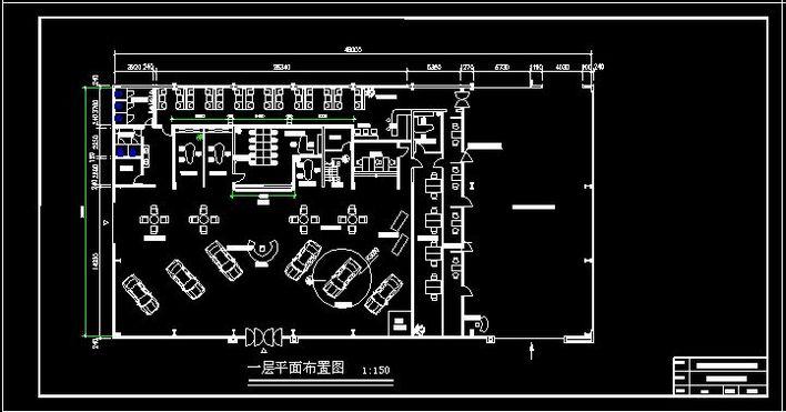 汽车4S店装修图纸 2高清图片