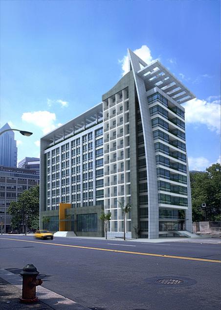高级实验办公楼日景效果2 船形建筑效果图(日/夜景) 东莞市汇景酒店给