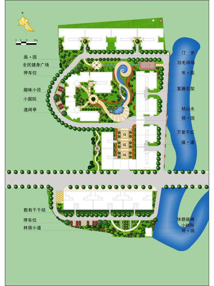 小区水系景观设计 欧式小区景观设计 小区景观设计平面 相关专题:  (0