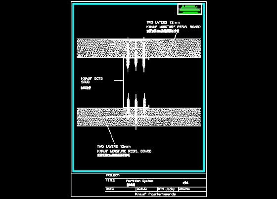 简介:石膏板隔墙,天花cad应用节点图