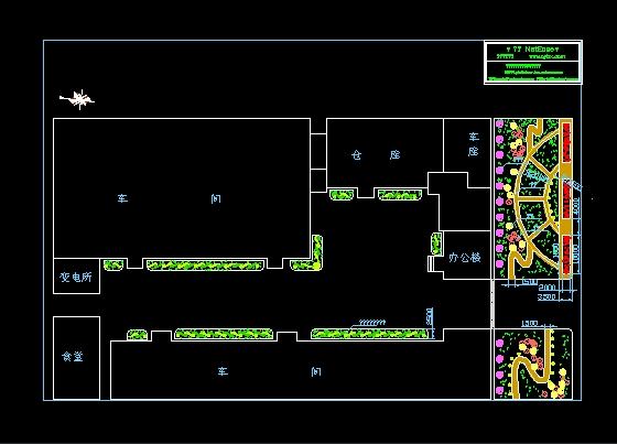某厂区绿化设计图图片