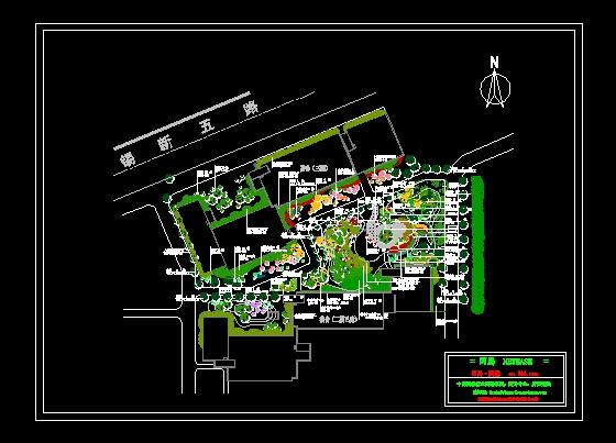某学院绿化植物配置平面图