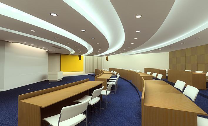 体育馆全套建筑设计图纸 某地单层多功能报告厅建筑设计方案 某地中学图片