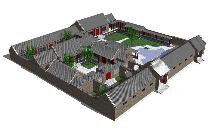 四合院四合院图纸四合院客厅设计中式四合院别墅四合院设计现代四合院