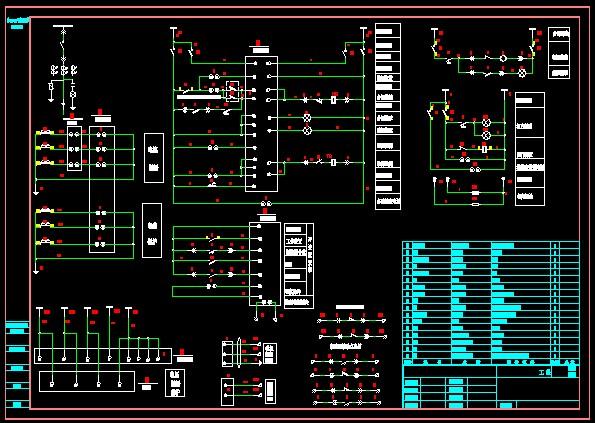 35kv变电所全套图纸,含pt柜;进线柜;母联;主变;站用变.