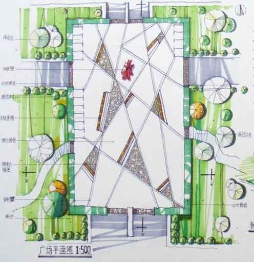 景观交通流线分析图; 景观 平面图01_co土木在线图纸下载; 景观 平面