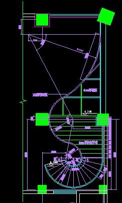 酒店大堂钢结构螺旋楼梯建筑 结构图纸