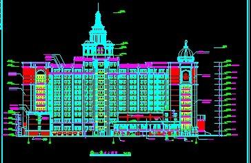 欧式建筑外观_cad图纸下载-土木在线