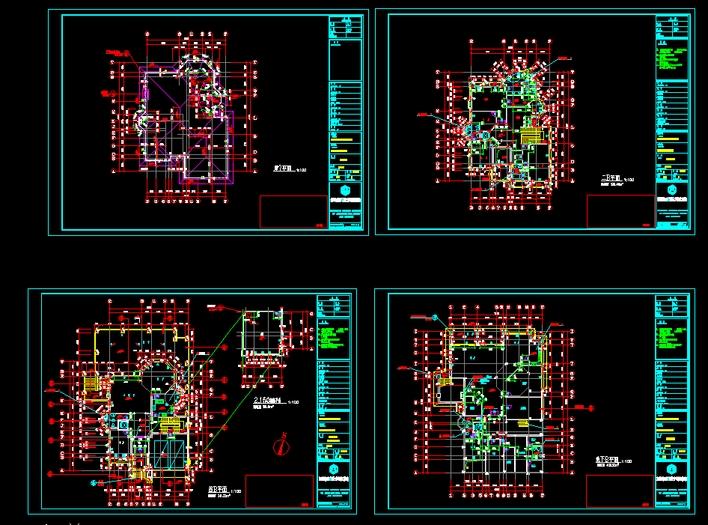 (欧式)别墅建筑施工图