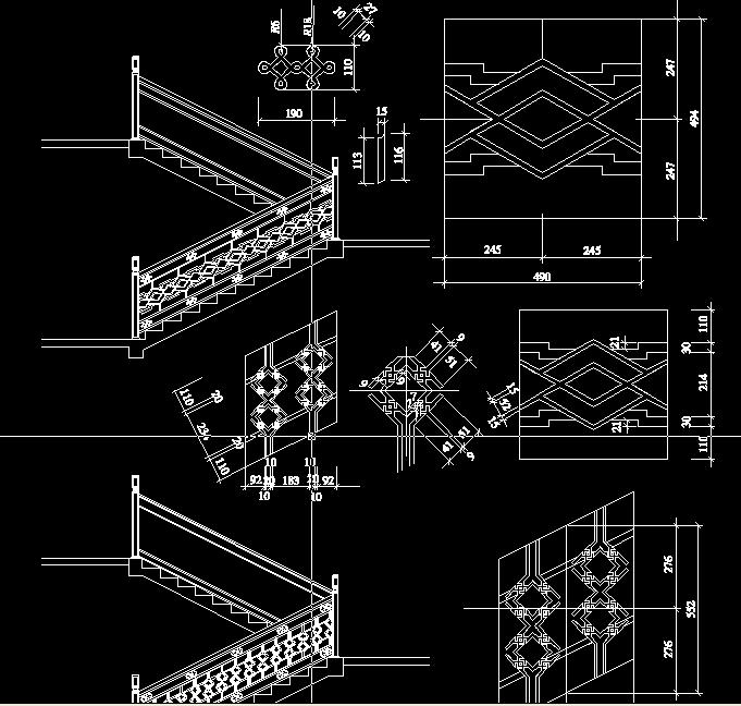 中国古建筑楼梯栏杆之三