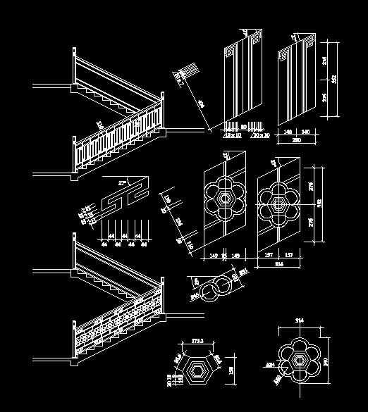 中国古建筑楼梯栏杆之五