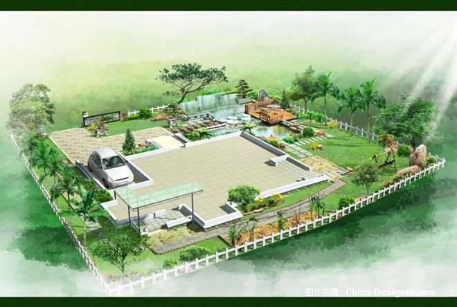 滨水景观节点效果图,很好的设计方案(造型花坛)
