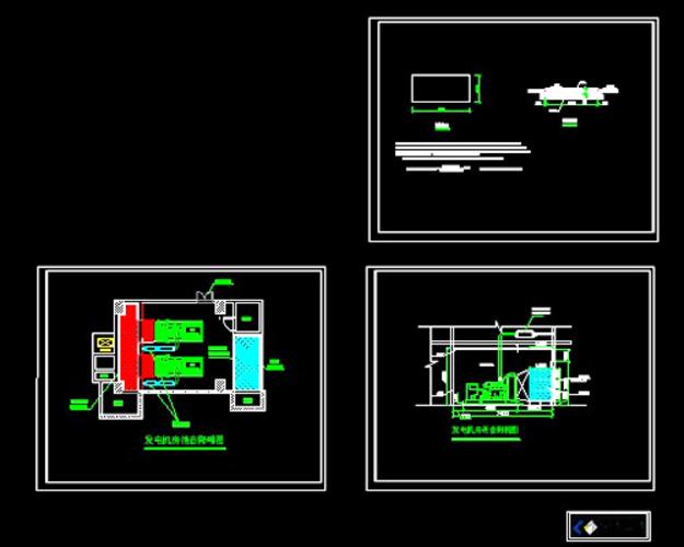 柴油发电机安装图集图片