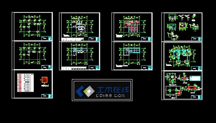 框架结构 建筑结构套图