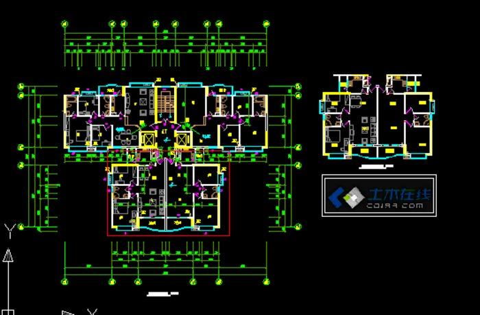 塔楼住宅户型平面图