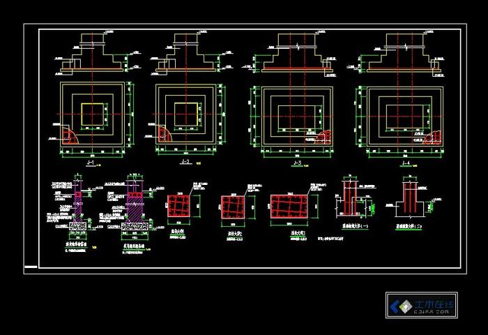 活动板房基础施工图 厂房基础施工测量