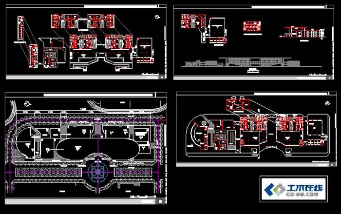 大学生建筑设计图纸图片;