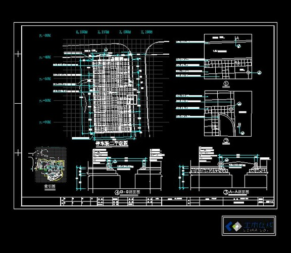 停车场景观设计施工图_cad图纸下载-土木在线