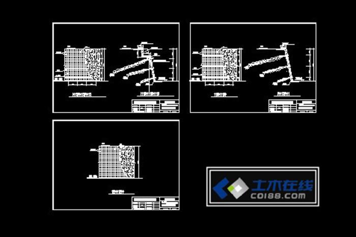 110kv变电站图纸 箱式变电站设计图纸  所属分类:基坑支护图纸 地基图片