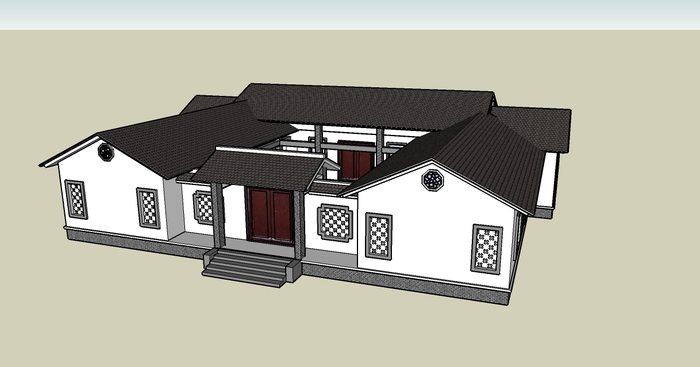 农村200平米小型四合院设计图展示