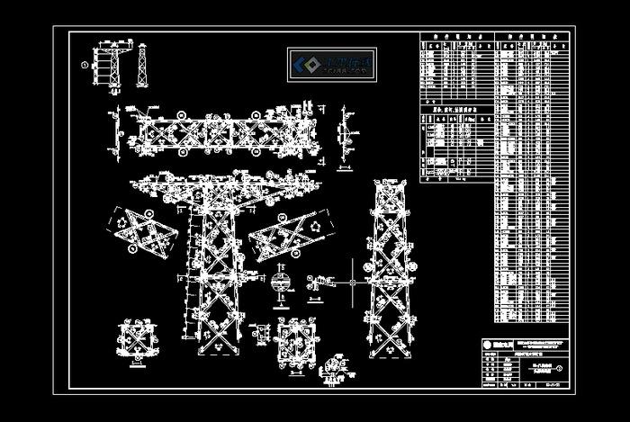 110铁塔模块图纸