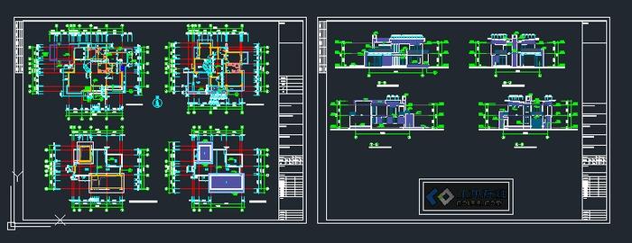 双层别墅施工套图
