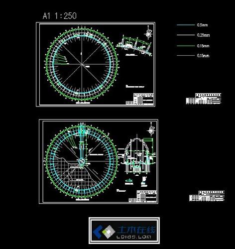 相关专题:圆形建筑施工图 圆形花坛施工图 圆形水池施工图 圆形