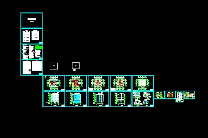 8m×12m农村民房设计平面图