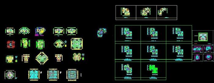 简介:各种塔式,单元式小高层户型