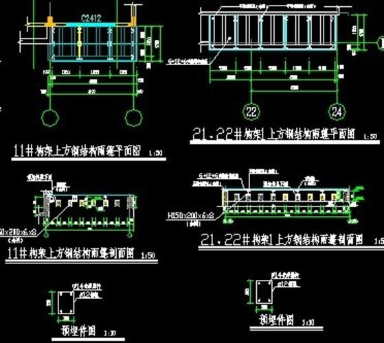 钢结构雨棚结构图