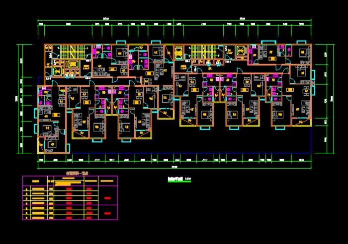 11层剪力墙结构小高层,一梯两户,经典户型,绝对好图 11层一梯两户剪力