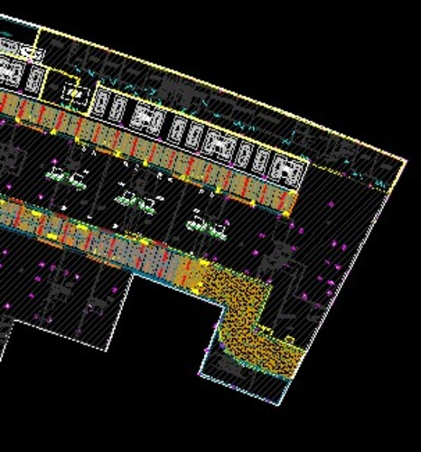 地下车库平面设计图   某豪宅小区地下车库详尽设计图纸cad 某豪宅