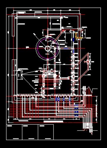 5T供热锅炉房上下图纸_CO图纸v上下(原网易土图例土木中喷头全套图片