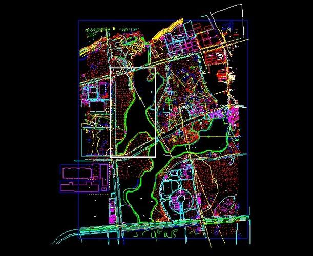 九龙湖公园地形图 东南大学九龙湖新校区景观设计(四套方案) 东南大学