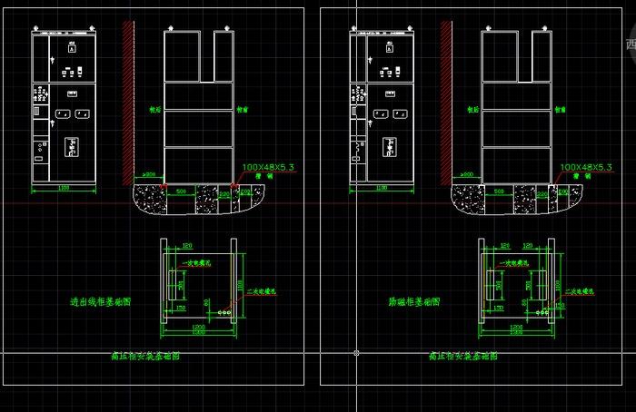 新朗水电站图纸柜安装中压图(cad基础下载)监控系统图安防cad图片